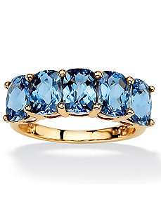 Oval-Cut London Blue Topaz Ring by PalmBeach Jewelry