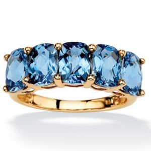 Oval-Cut London Blue Topaz Ring