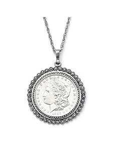 Morgan Lady Liberty Dollar Pendant by PalmBeach Jewelry