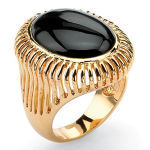 Oval-Shaped Onyx Ring