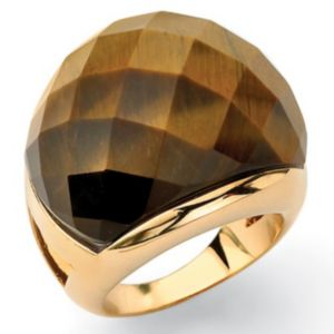 Faceted Tigers-Eye Ring