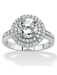 Roundcubic zirconia Ring by PalmBeach Jewelry