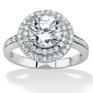 Roundcubic zirconia Ring