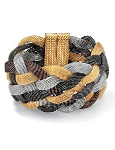 Tritone Braided Mesh Bracelet by PalmBeach Jewelry
