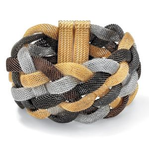 Tritone Braided Mesh Bracelet