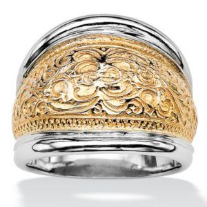 Milgrain Scroll Cigar Band Ring