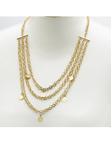 Multi-Chain and Disk Necklace by PalmBeach Jewelry