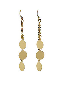 Multi-Disk Drop Pierced Earrings by PalmBeach Jewelry