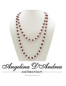 Purple and White Pearl Necklace by PalmBeach Jewelry