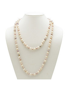 Lavender and White Pearl Necklace by PalmBeach Jewelry