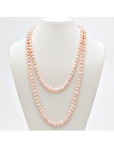 Pink and White Pearl Necklace by PalmBeach Jewelry