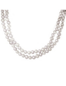 White Freshwater Pearl Necklace by PalmBeach Jewelry
