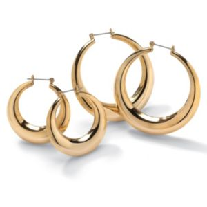 Set of 2 Pairs of Hoop Earrings