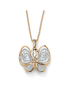 Filigree Butterfly Pendant by PalmBeach Jewelry