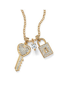 14k gold-plated Pendant-Necklace by PalmBeach Jewelry
