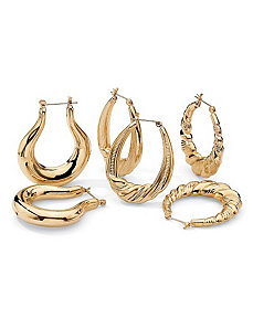 3-Pair Earring Set by PalmBeach Jewelry