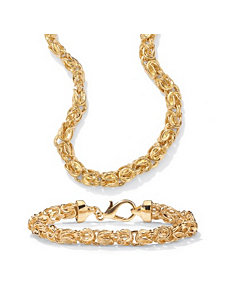Byzantine-Link Jewelry Set by PalmBeach Jewelry