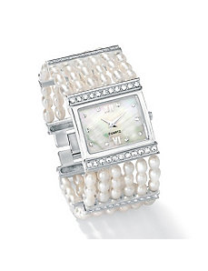 Cultured Freshwater Pearl Watch by PalmBeach Jewelry
