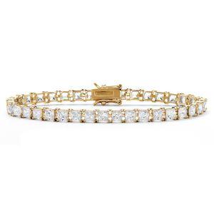 Princess-Cut Cubic Zirconia Tennis Bracelet