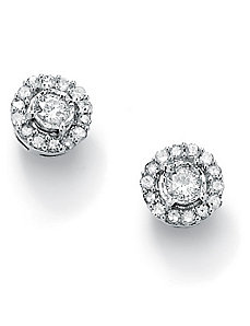 Round Diamond Cluster Earrings by PalmBeach Jewelry