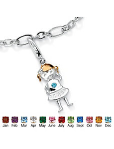 Girl Birthstone Charm by PalmBeach Jewelry