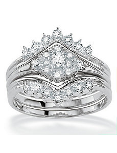 Diamond Wedding Ring Set by PalmBeach Jewelry