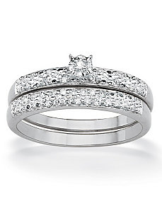 Round Diamond Wedding Ring Set by PalmBeach Jewelry