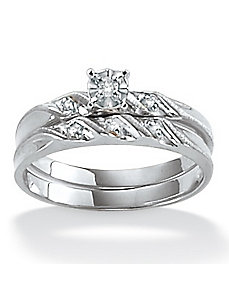 Diamond Accent Wedding Ring Set by PalmBeach Jewelry