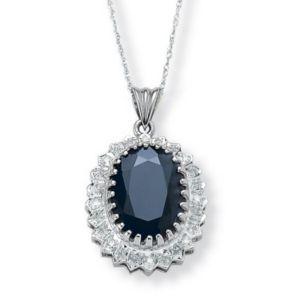 Midnight Blue Sapphire Pendant
