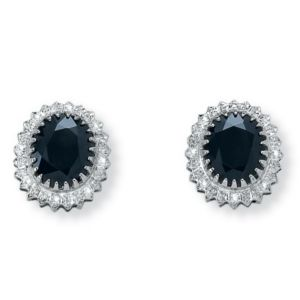 Midnight Blue Sapphire Earrings