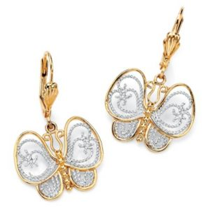 Filigree Butterfly Pierced Earrings