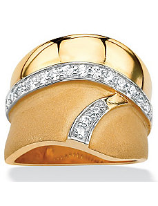 Cubic Zirconia Geometric Band by PalmBeach Jewelry