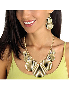 Multi-Disk Rolo-Link Jewelry Set by PalmBeach Jewelry