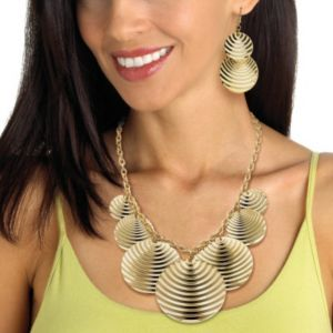 Multi-Disk Rolo-Link Jewelry Set