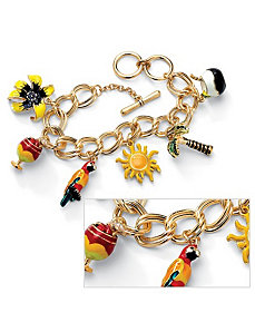 Tropical Paradise Charm Bracelet by PalmBeach Jewelry