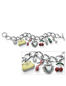 Crystal Uptown Girl Charm Bracelet by PalmBeach Jewelry