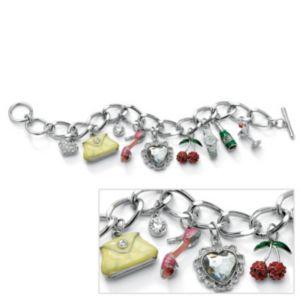 Crystal Uptown Girl Charm Bracelet