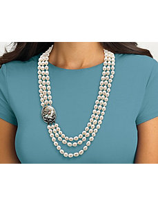 Cultured Freshwater Pearl Necklace by PalmBeach Jewelry