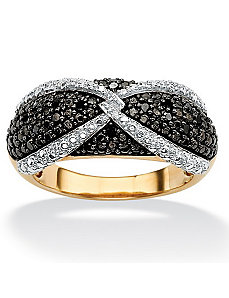 Black & White Diamond Ring by PalmBeach Jewelry