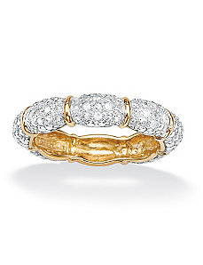 Reversible Diamond Eternity Band by PalmBeach Jewelry