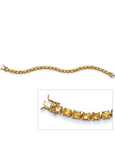 Oval-Cut Citrine Tennis Bracelet by PalmBeach Jewelry