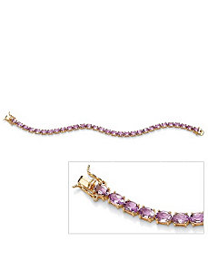 Oval-Cut Amethyst Tennis Bracelet by PalmBeach Jewelry