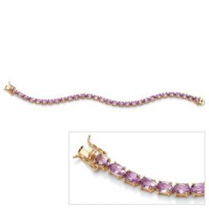 Oval-Cut Amethyst Tennis Bracelet
