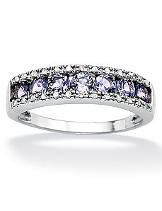 Tanzanite & Diamond Accent Ring by PalmBeach Jewelry