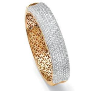 Roundcubic zirconia Bangle Bracelet