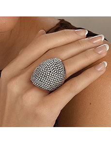 Roundcubic zirconia Dome Ring by PalmBeach Jewelry