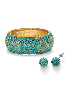 Aquamarine-Colored Crystal Set by PalmBeach Jewelry