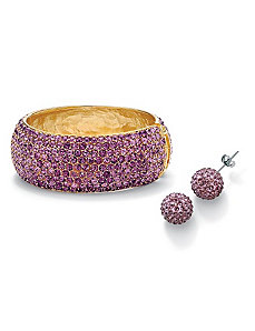 Amethyst-Colored Crystal Set by PalmBeach Jewelry