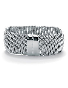 Mesh Bangle Bracelet by PalmBeach Jewelry