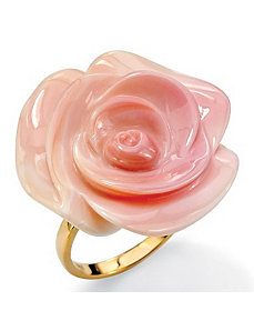Pink Mother-of-Pearl Flower Ring by PalmBeach Jewelry